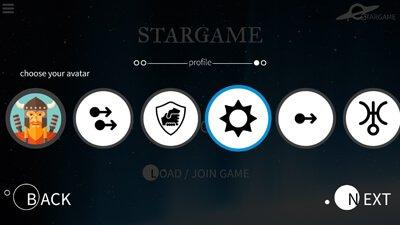 menu select your avatar